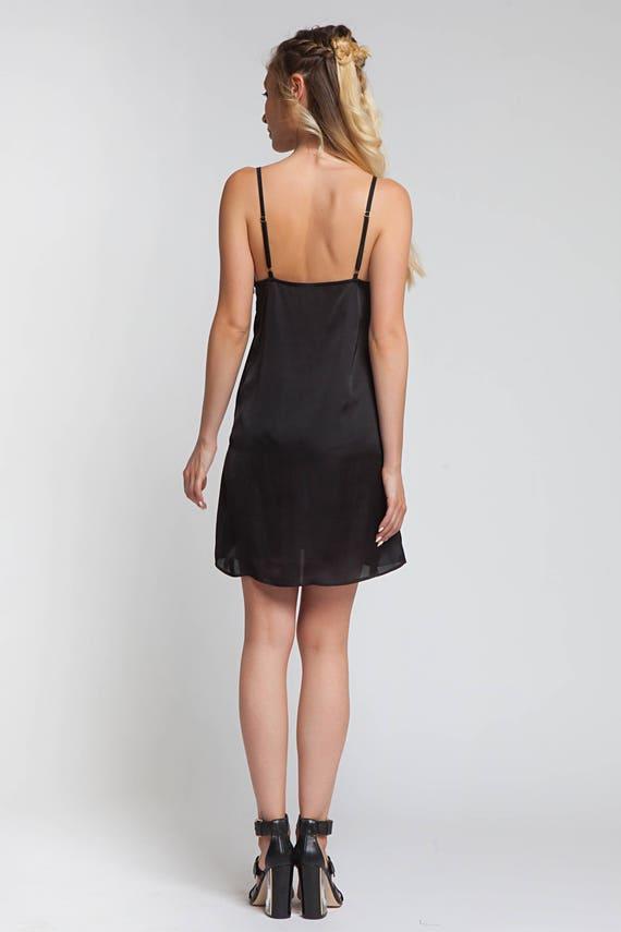 Black Tank Dress, Plus Size Dress, Spaghetti Strap Dress, Women Dress, Slip  Dress, Casual Black Dress, Silk Dress, Minimalist Dress