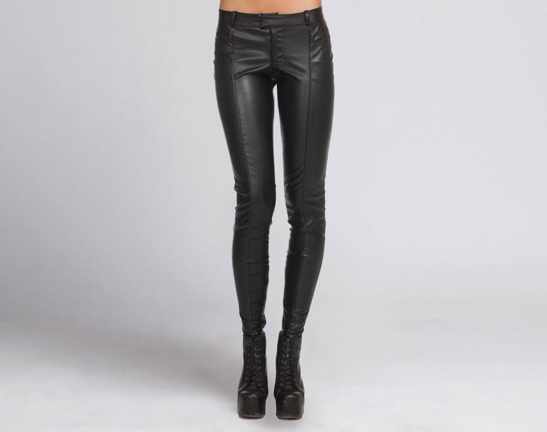 52b1e9643d171 Leather Pants Leather Leggings Womens Black Pants BDSM | Etsy
