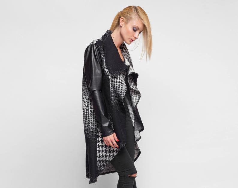 dcf96fcc10 Plus Size Coat High Collar Wrap Coat Womens Coat Black And