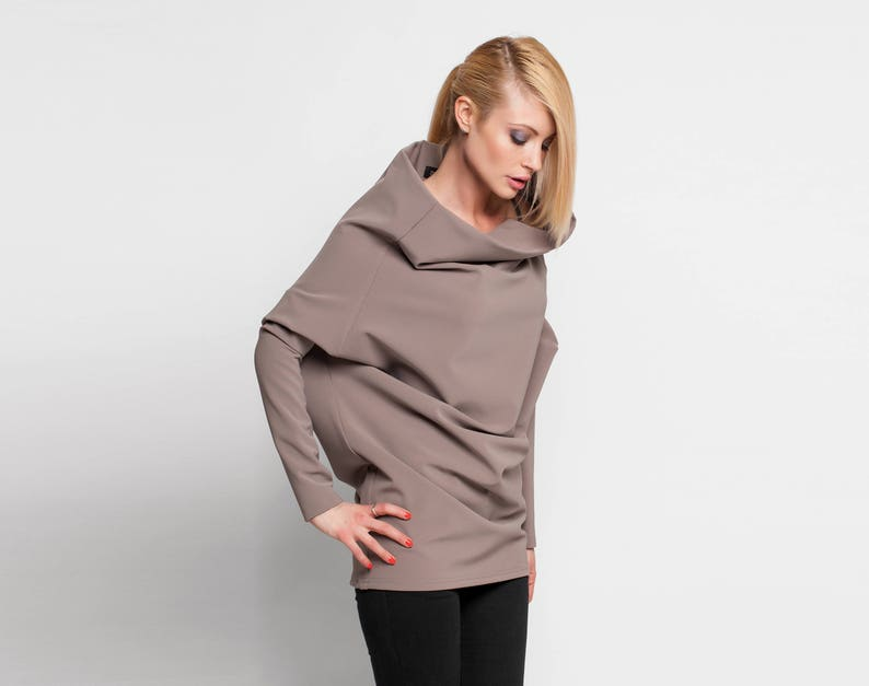 56b6dde4df Cowl Neck Sweater Women Sweater Long Sweater Oversized