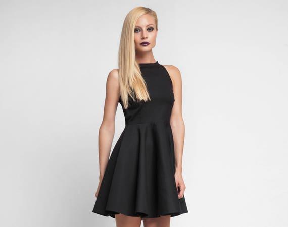 b13a3f8b536 Short Cocktail Dress Full Circle Dress Sexy Black Dress