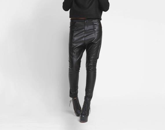 9c941d8508afd Déposez entrejambe pantalon pantalon en cuir pantalon en   Etsy