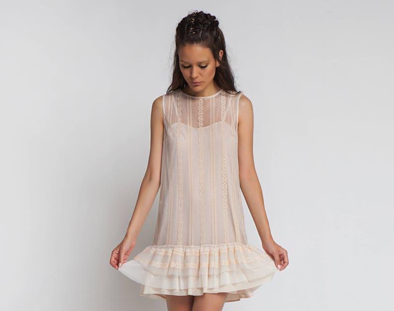 Women Lace Dress Cream Dress Plus Size Clothing Sleeveless | Etsy