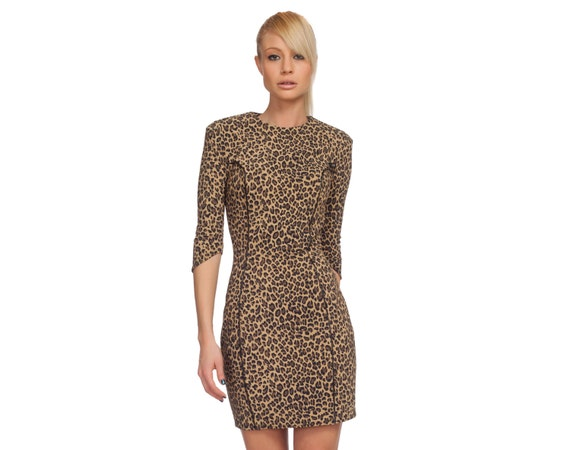 Leopard Print Dress Holiday Dress Bodycon Dress Pencil Etsy