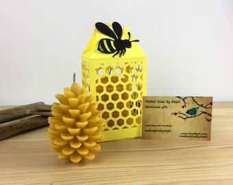 Pure beeswax candles-pinecone candles-eco candles-christmas candles-autumn candles-pinecone-Christmas table-table centrepiece