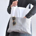 Cotton Bag, Shopper, Jute Bag, White Bag, Silver