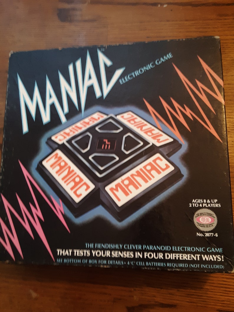 Rare vintage 1979 Ideal Maniac Electronic game mint condition complete in box