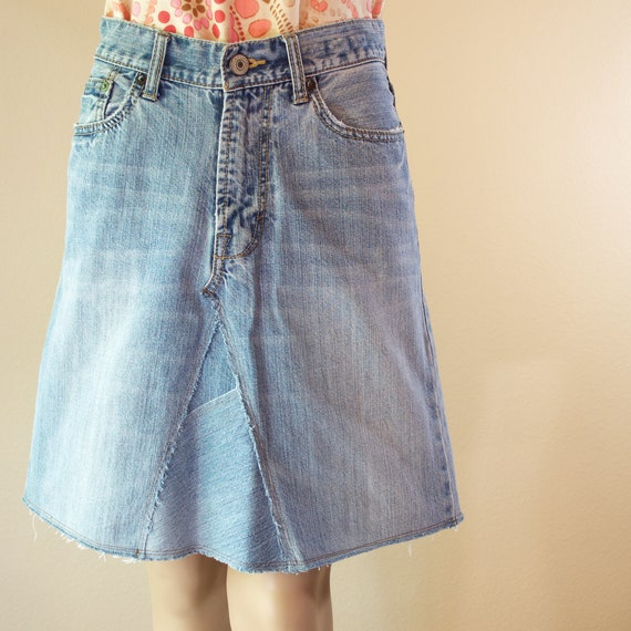 Upcycled Denim Skirt from American Eagle Jeans Size 8