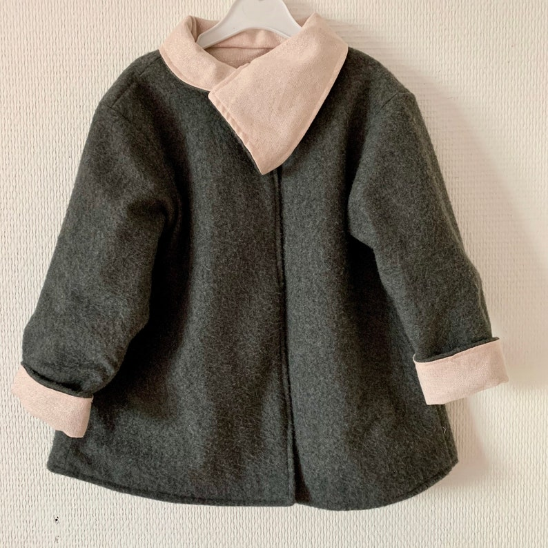 Reversible coatjacketveste for little girls