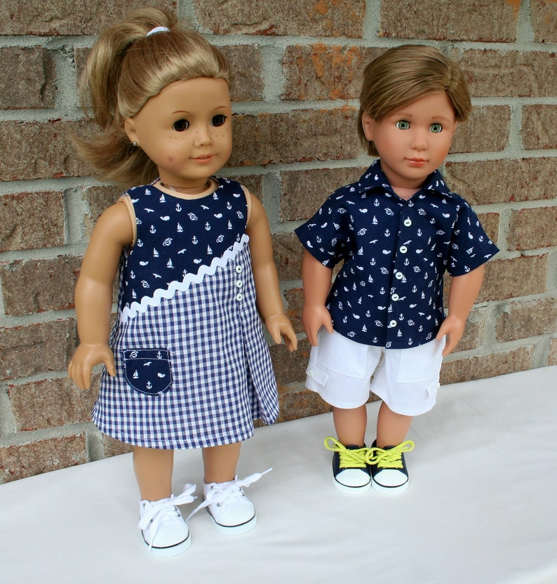 068726511433 18 Inch Doll Clothes Boy and Girl Brother & Sister Matching | Etsy