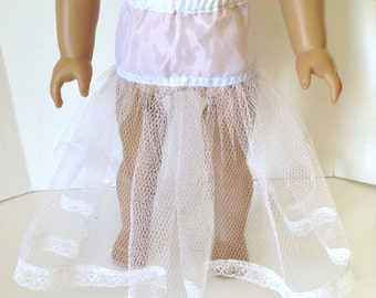 18 Inch Doll Clothes, 1950's Long Crinoline, Slip, Petticoat, Floor/Formal Length.