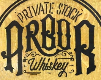 "TIN SIGN /"" Bourbon Moonshine White/""  Whiskey Bar Alcohol Mancave Wall Decor"