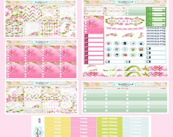 Planner Stickers EC Vertical Weekly Kit Sacred Lotus