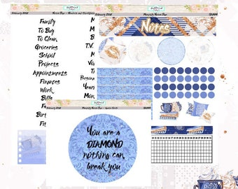 Planner Stickers Erin Condren February Monthly Notes Pages