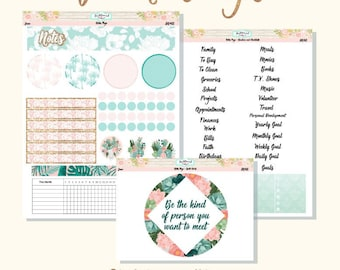 Planner Stickers Erin Condren Monthly Notes Pages