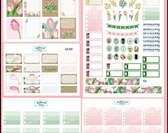 Planner Stickers Weekly Kit Tulips