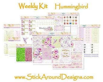 Planner Stickers Weekly Kit Erin Condren Vertical Hummingbird