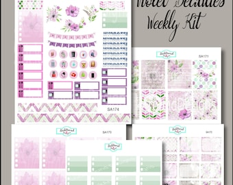 Planner Stickers Weekly Kit Violet Beauties