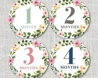 month stickers etsy