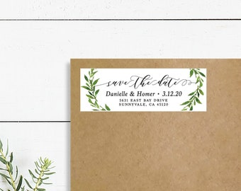 floral return address stickers custom save the date address etsy