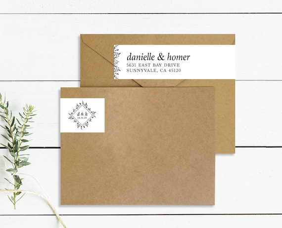 custom wrap around address labels save the date address labels etsy