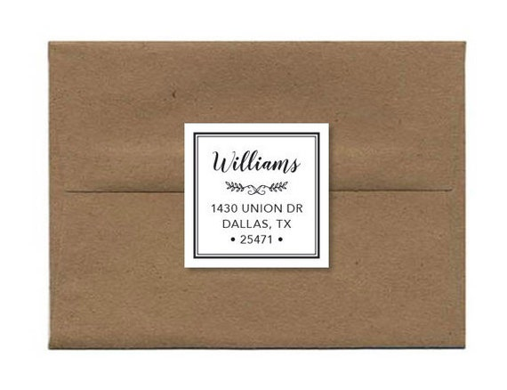 custom address label modern address stickers return address etsy