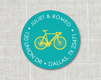 Custom Bicycle Address Label, Bike Address Stickers, Return Address Label