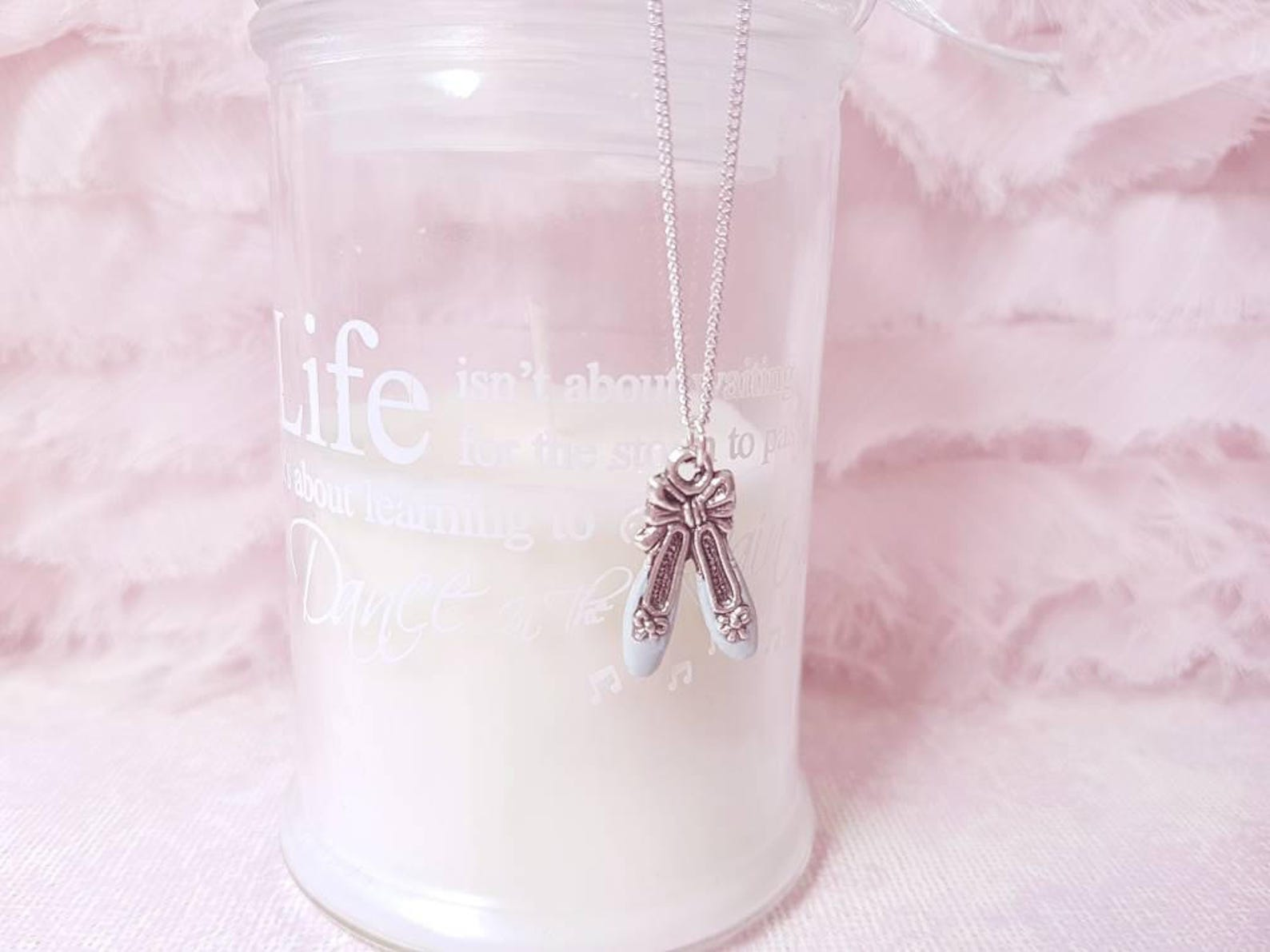 ballet shoes necklace - ballerina shoes necklace - ballerina pendant - ballerina shoe charm - ballet dancer gift - gift for ball