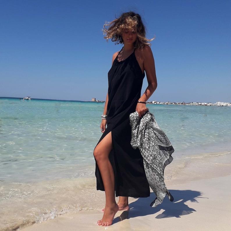 long black dress splits