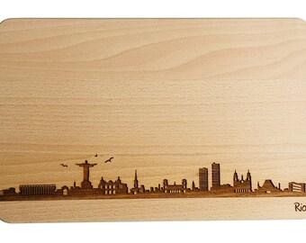 Breadboard Rio de Janeiro Skyline (3 sizes selectable)