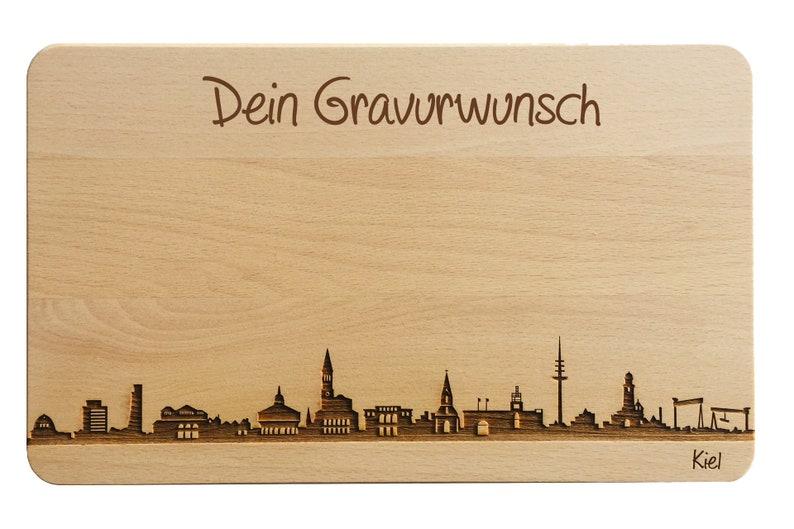Bread Time Board Kiel Skyline with personal engraving