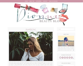 Dionne, Make Up/Beauty Blog - Responsive Blogger Theme - Premade Blogger Theme