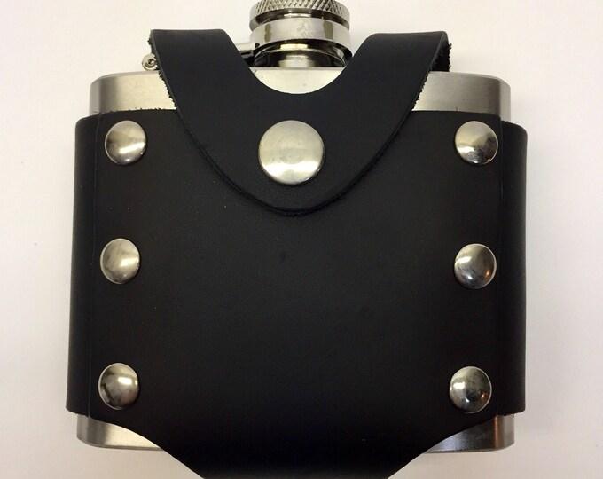 Flask 5oz with leather case LARP,  Viking, SCA, renaissance