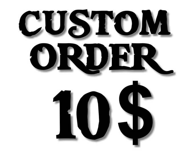 Price to add to a costum order