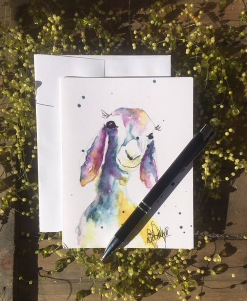 party invitations hostess gift GoatBlank Greeting cards Stationery set