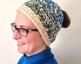 Woman's Wool Ponytail Hat / Beanie