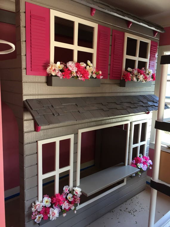 Laylas Loft Bed Custom Dollhouse Style Play Area Etsy
