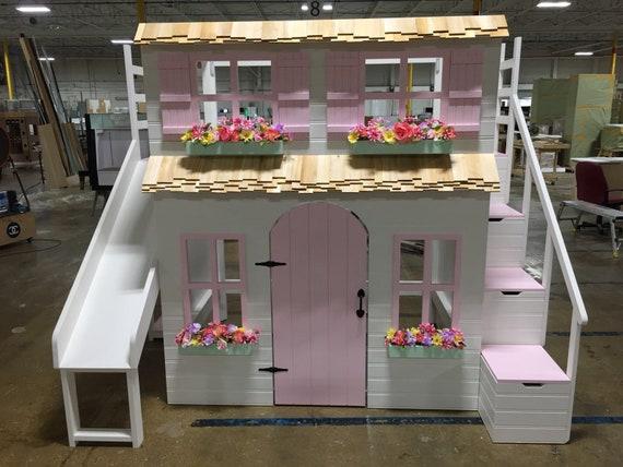 Etagenbett Für Puppenhaus : Layla die ultimative puppenhaus hochbett und spielhaus etsy