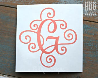 Monogram decal - Vinyl Decal - Monogram Sticker - Letter Decal - Yeti decal - RTIC decal - Car decal - Laptop decal - Initial decal