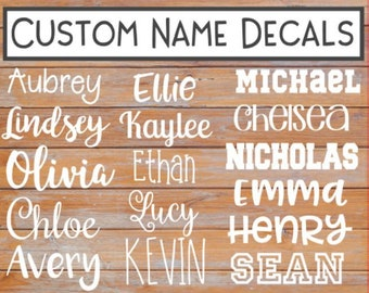 Name Decal - Vinyl Name decal - Personalized Name Decal - Name Sticker - Tumbler Name Sticker - Yeti Name decal - Car Decal - Laptop decal