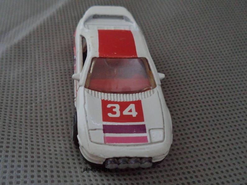 1990 Hot wheels White Hot wheels Vintage Hot Wheels 1990 Mattel diecast toy Number 34 race car