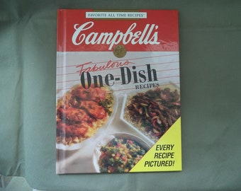 Campbell's one dish cook book, Hard back cook book ,1992  Vintage cook book , Soup cook book