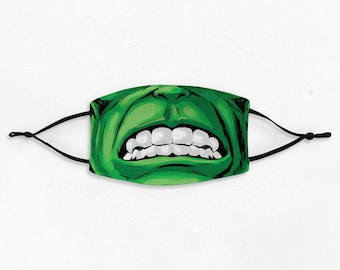 Adult or Kids Comic Book Superhero Cloth Face Mask | Reusable Mask | Cloth Face Mask | Incredible Face Mask | MADE IN The USA