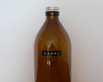Large 1000ml Amber Glass Bottle
