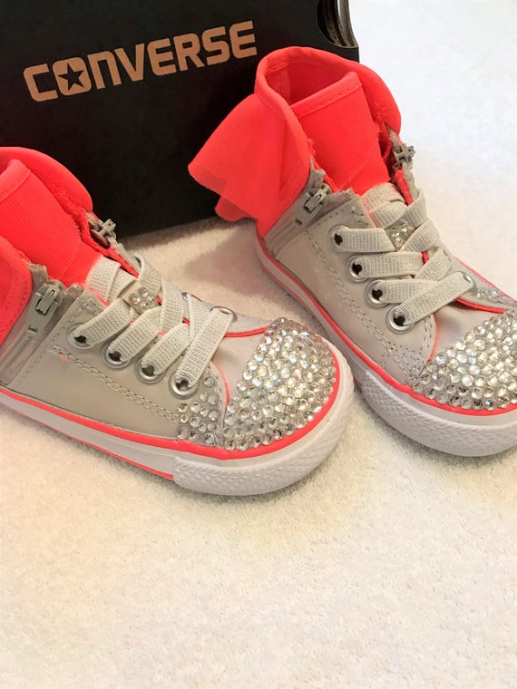 5cf1e832d10 Pure Silver Hot Pink Toddler s Converse Custom High Top
