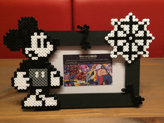 Items Similar To Mickey Mouse Hama Bracket Pearl Photo Frame On Etsy