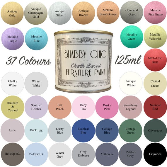 Swell Shabby Chic Chalk Based Furniture Paint 125Ml Choice Of 37 Colours Download Free Architecture Designs Scobabritishbridgeorg