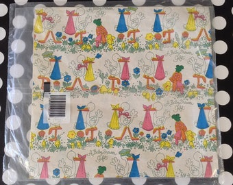 Special Delivery~Stork~Baby Shower~Vintage Baby Gift Wrap~Wrapping Paper~Wrap Well~NOS