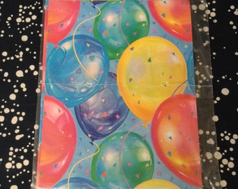 Party People~Balloons~Gift Wrap~Sheet~NOS~American Greetings~Birthday
