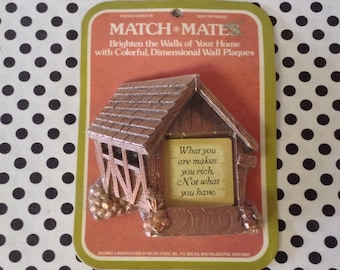What You Are~Match Mates~Miller Studio 1979~Wall Plaque~Covered Bridge~Sealed